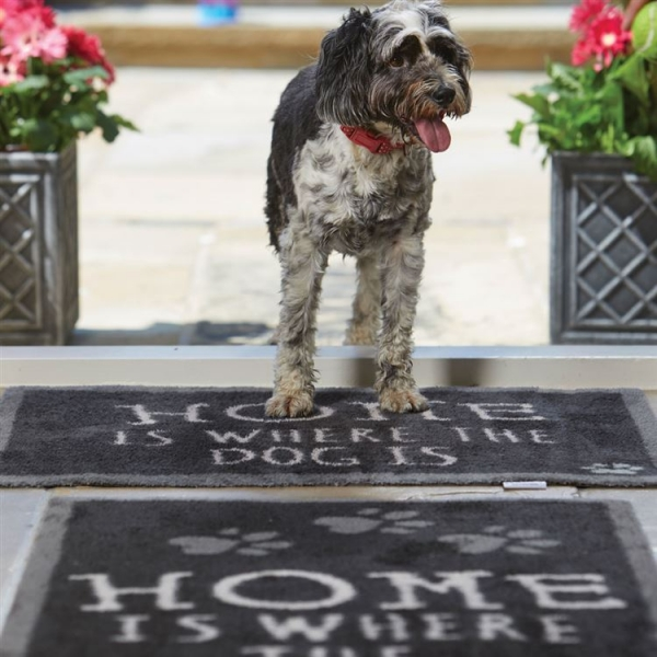 """Howler and Scratch Pet Mat """"Home 2"""" Navy LIFESTYLE"""