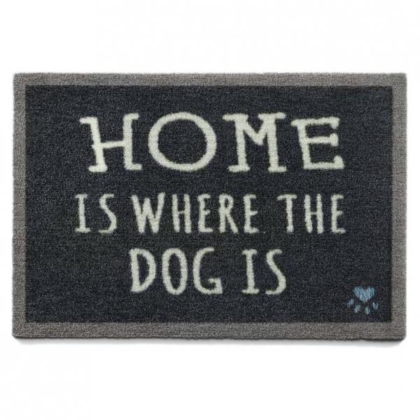 "Howler and Scratch Pet Mat ""Home 2"" Navy Small"