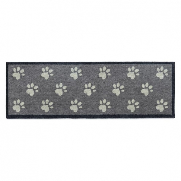 "Howler and Scratch Pet Mat ""Big Paw 1"" Grey 50cm x 150cm"