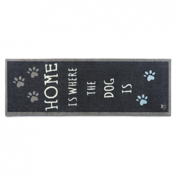 """Howler and Scratch Pet Mat """"Home 2"""" Navy Large"""