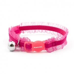 Ancol Velvet Frills Cat Collar Pink