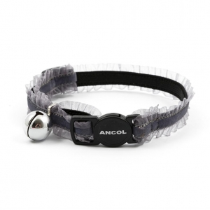 Ancol Velvet Frills Cat Collar Black