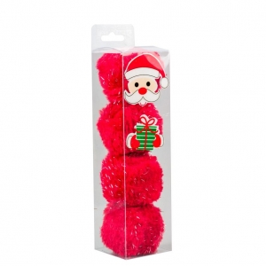 Good Girl Santa Fluffy Balls 4pcs