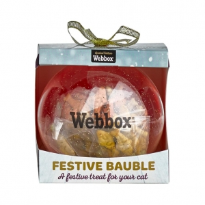 Webbox Festive Cat Bauble with Treats