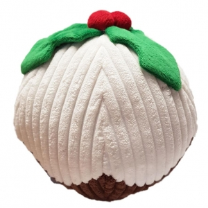 Ancol Plush Christmas Pudding Ball 20cm