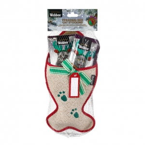 Webbox Festive Cat Stocking