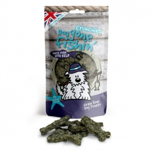 Dog Gone Fishin Crunchies White Fish with Kelp 75gm