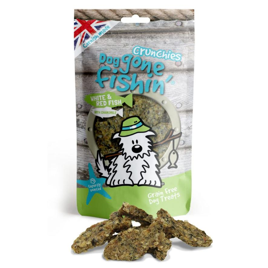 Dog Gone Fishin Crunchies White and Red Fish with Chamomile 75gm
