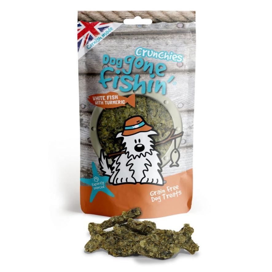 Dog Gone Fishin Crunchies White Fish with Turmeric 75gm