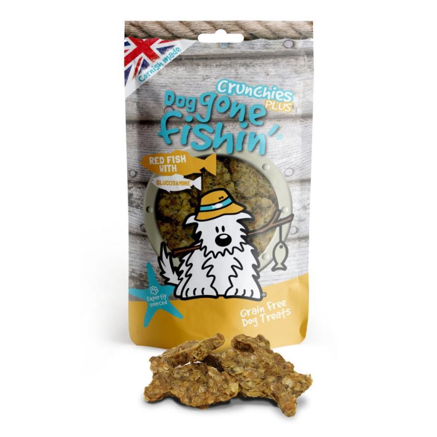 Dog Gone Fishin Crunchies PLUS Red Fish with Glucosamine 75gm