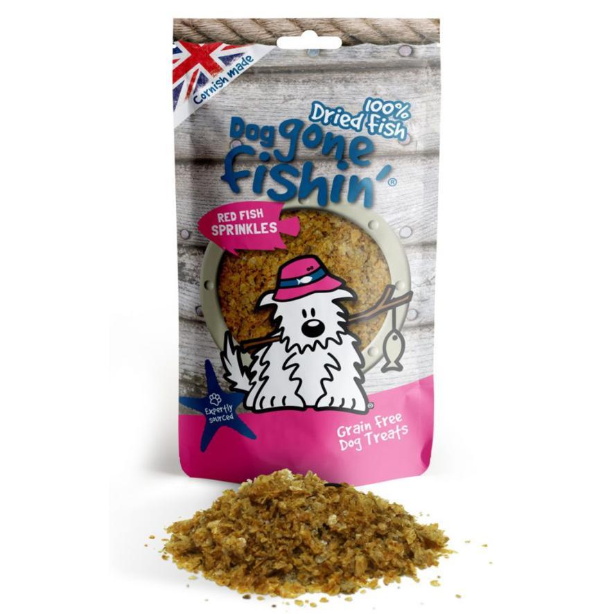 Dog Gone Fishin Red Fish Sprinkles 100gm (Grain Free)