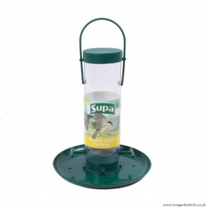 Supa Nyger Seed Feeder with Tray 20cm