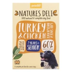 NATURES DELI Senior Turkey & Chicken with Sage & Brown Rice 400g