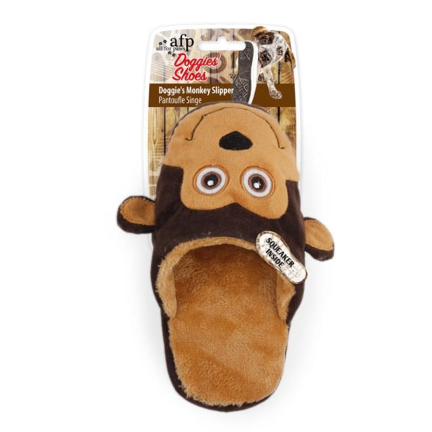 All for Paws Doggie Slipper Monkey 21cm
