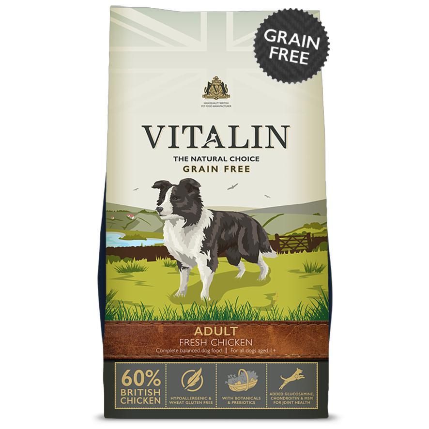 Vitalin Dog Food with Fresh Chicken (Grain Free) 498530