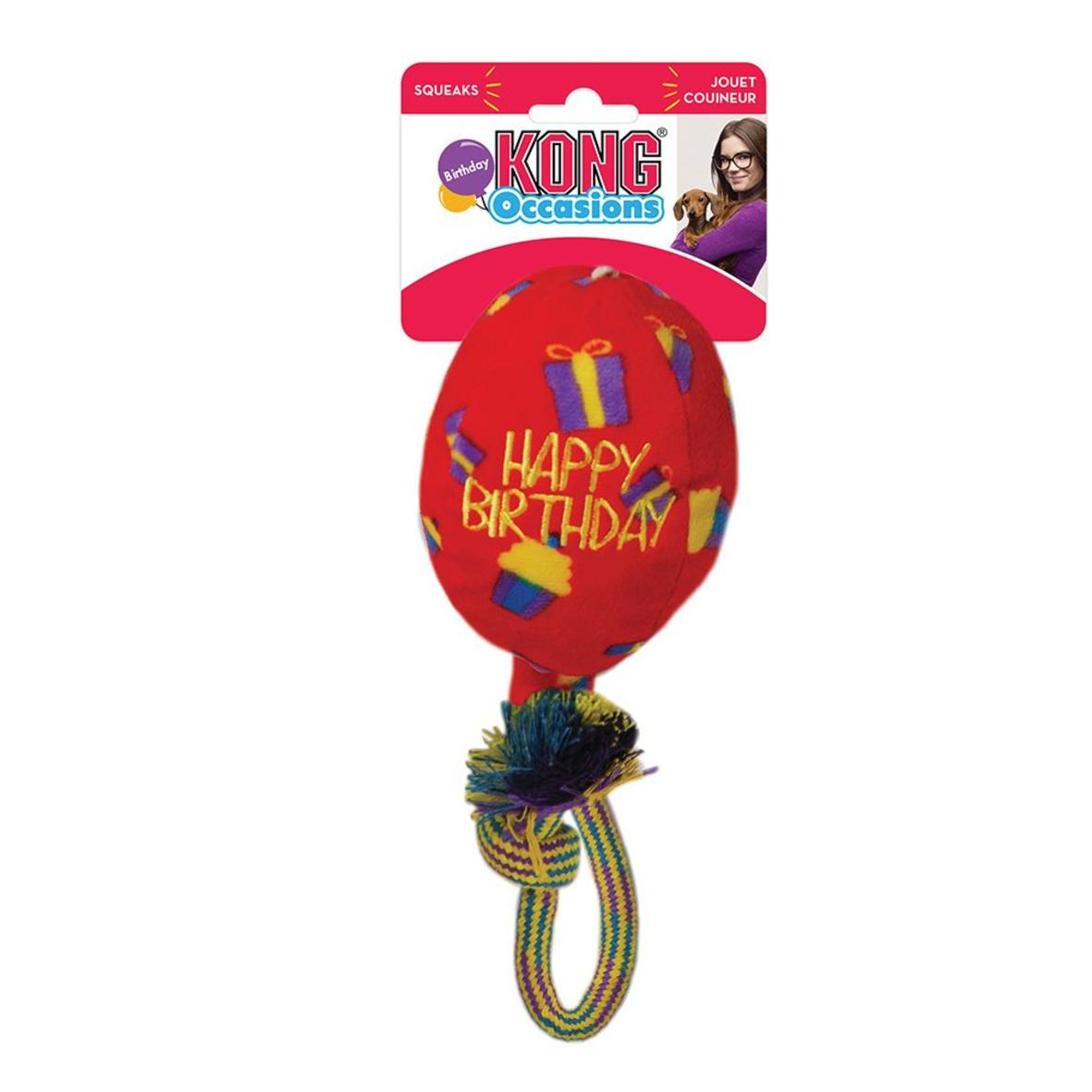 "KONG Occasions Birthday Balloon ""Happy Birthday"" 15cm"