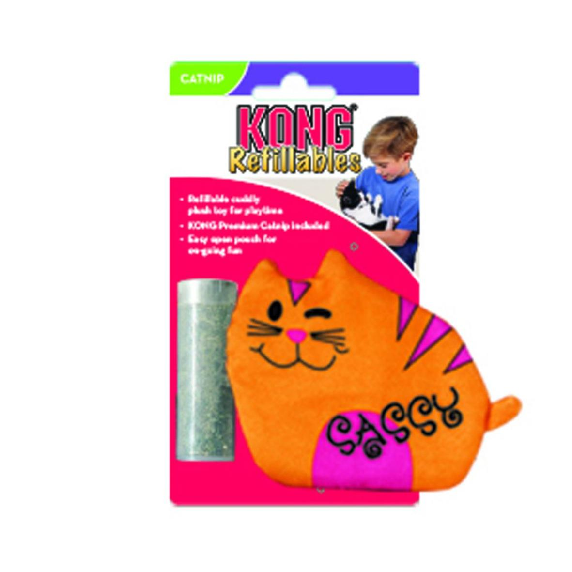 KONG Refillables Purrsonality Sassy Cat with Catnip 10cm