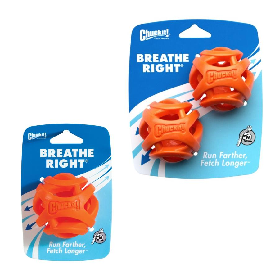 Chuckit! Breathe Right Ball Medium 6.5cm (Two Pack Sizes)