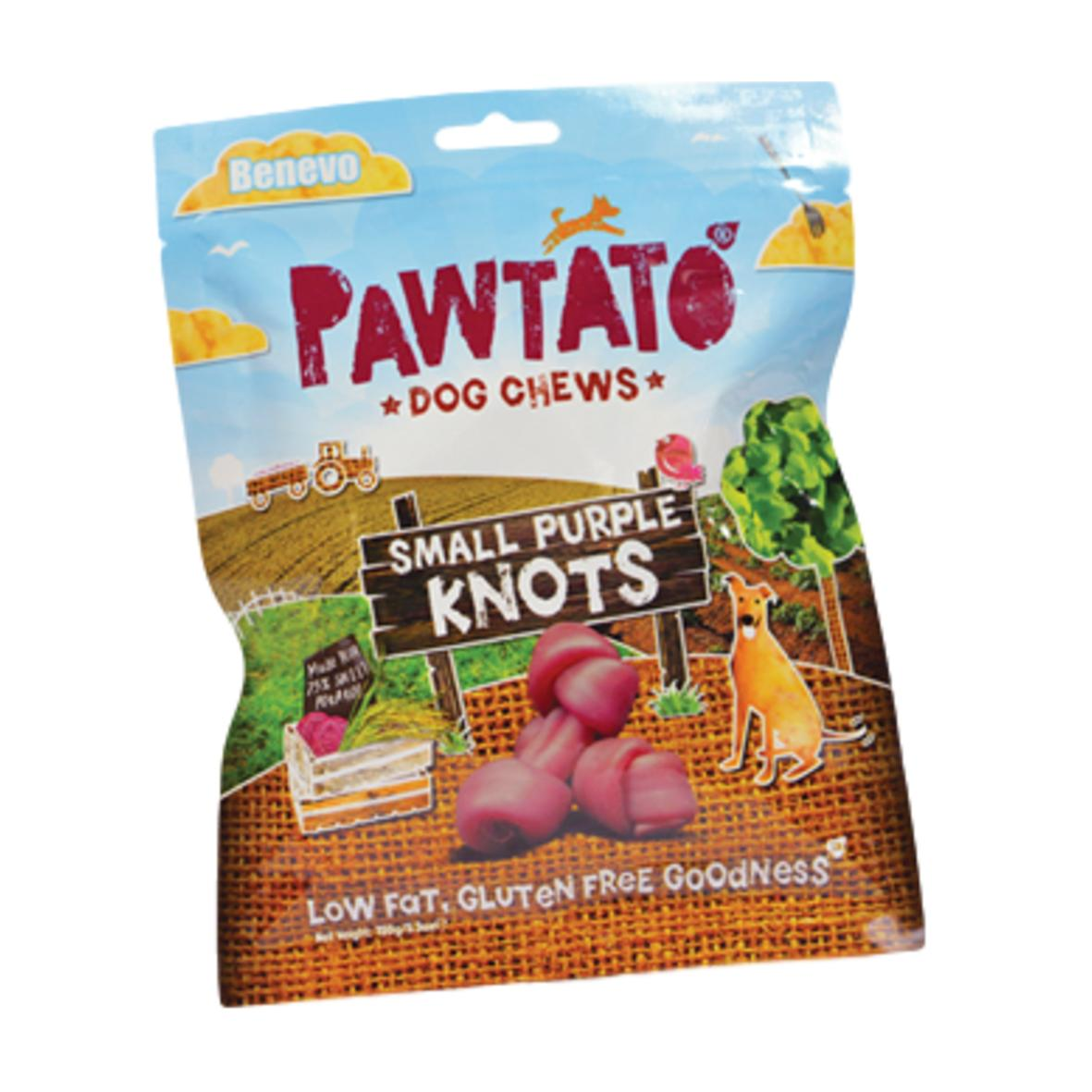 Pawtato Small Purple Knots 150gm (Wheat Gluten Free)