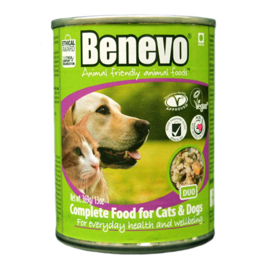 Benevo Duo Complete Tins for Cats and Dogs 12 x 369gm