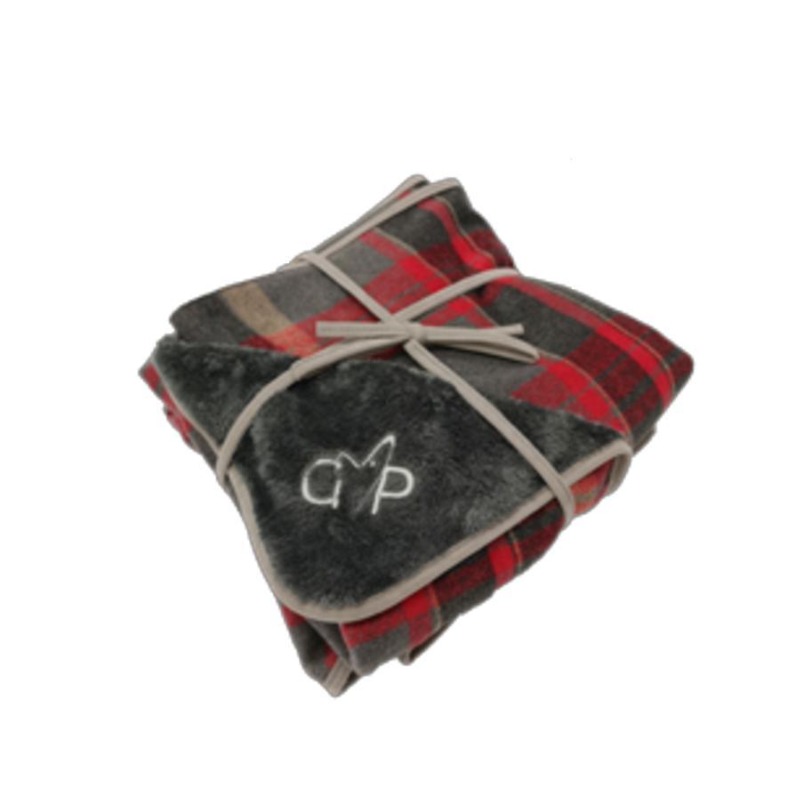 CLEARANCE Gor Pets Camden Blanket Red Checks Medium 100cm x 75cm
