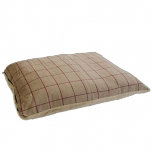 Gor Pets Premium Checkered Comfy Cushion Beige
