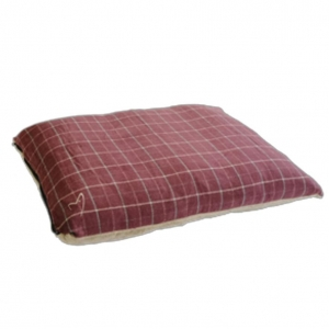Gor Pets Premium Checkered Comfy Cushion Wine