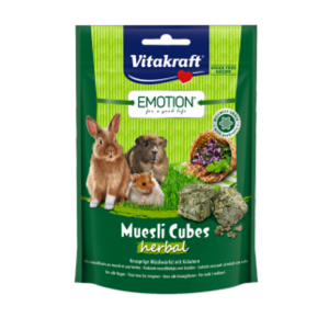 Vitakraft Emotion Muesli Cubes Herbal