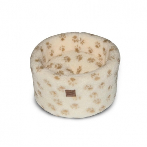 Danish Design Cat Cosy Bed Cream Paws