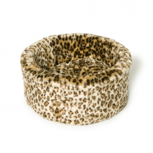 Danish Design Cat Cosy Bed Leopard Print
