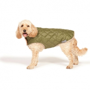 Danish Design Quilted Dog Coat Forest Green*