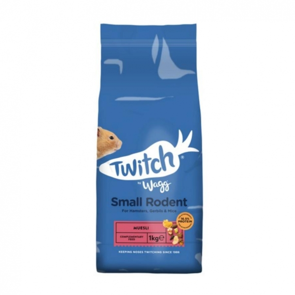 Wagg Twitch Small Rodent Muesli 1kg