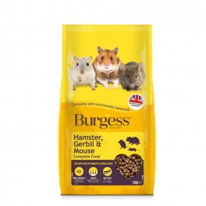 Burgess Hamster, Gerbil and Mouse Food 750gm
