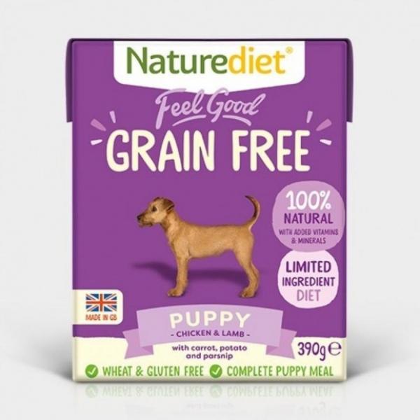 Naturediet Feel Good Puppy Chicken with Turkey (Grain Free) 18 x 390gm