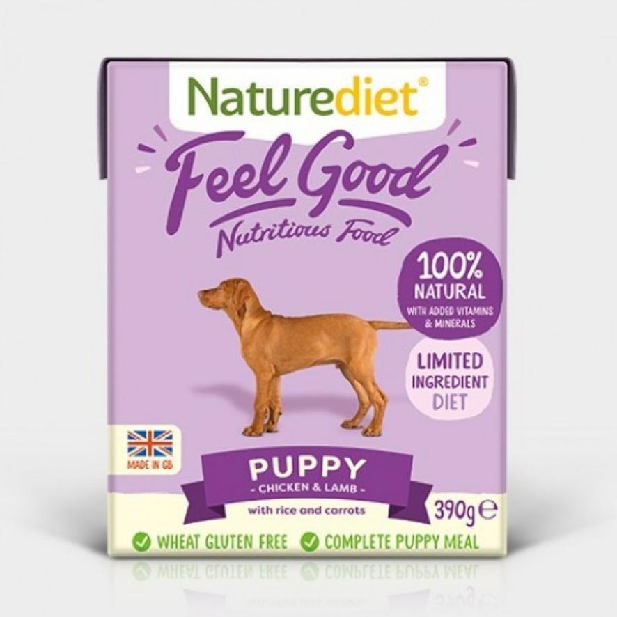Naturediet Feel Good Puppy Chicken with Lamb, Rice and Carrots 18 x 390gm