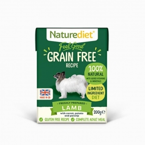 Naturediet Feel Good Lamb (Grain free) 8 x 200gm