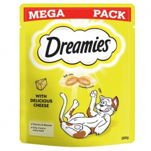 Dreamies Cat Treats with Cheese MEGA PACK 200gm