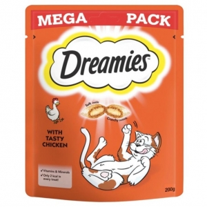 Dreamies Cat Treats with Chicken MEGA PACK 200gm