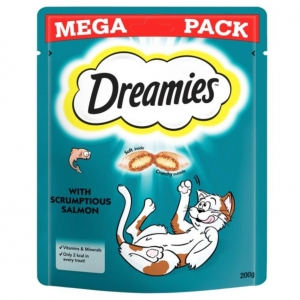Dreamies Cat Treats with Salmon MEGA PACK 200g