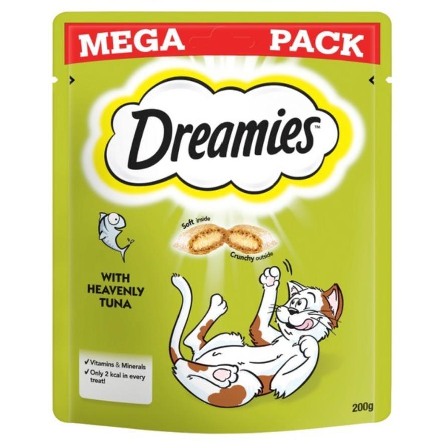 CLEARANCE Dreamies Cat Treats with Tuna MEGA PACK 200gm