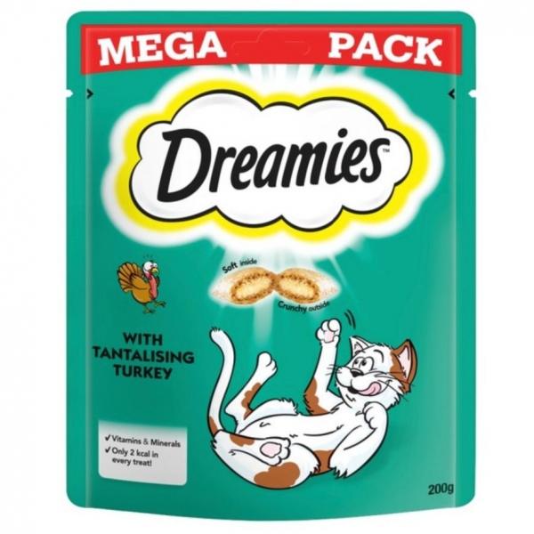 Dreamies Cat Treats with Turkey MEGA PACK 200gm