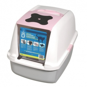 Catit Hooded Cat Litter Box Pink