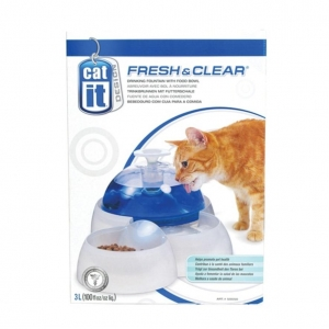 Catit Fresh and Clear Water Fountain and Food Bowl