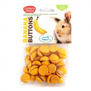 Critters Choice Banana Buttons 40g