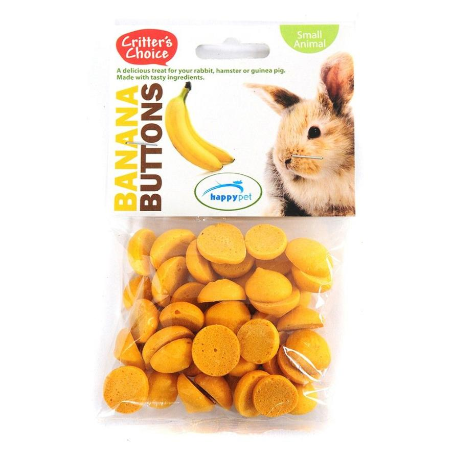 Critters Choice Banana Buttons 40gm