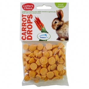 Critters Choice Carrot Drops 75gm