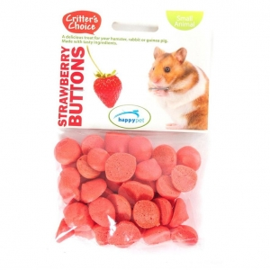 Critters Choice Strawberry Buttons 40gm