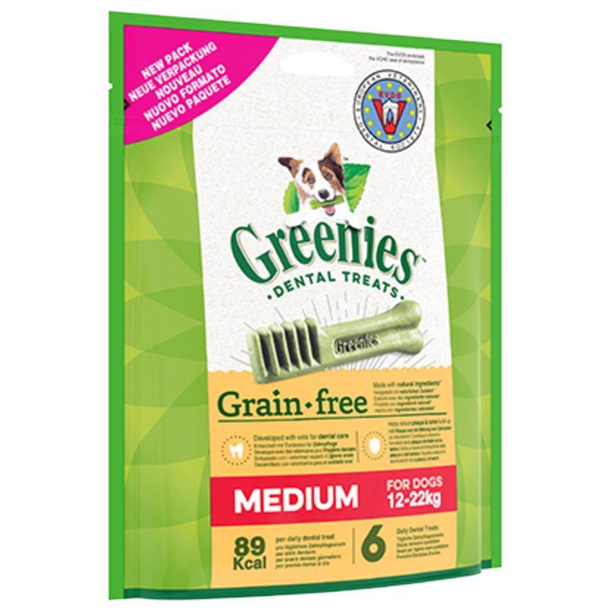 CLEARANCE Greenies Grain Free MEDIUM Dental Treats 12-22kg 170gm