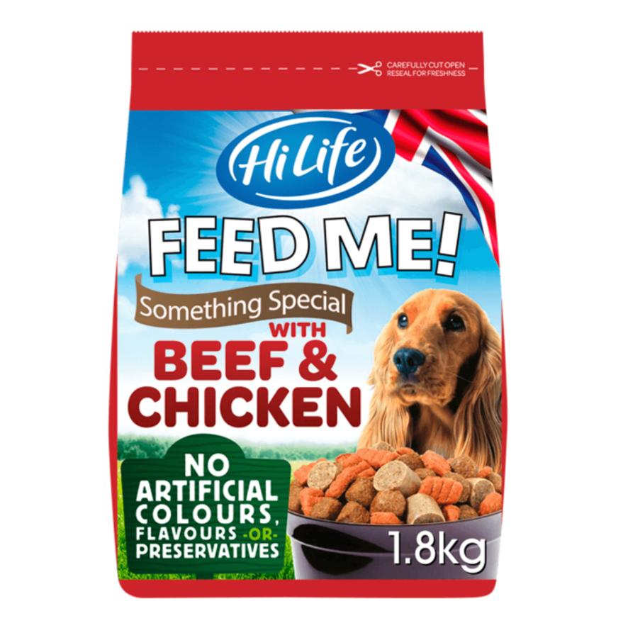 CLEARANCE HiLife Feed Me Something Special Beef and Chicken 1.8kg