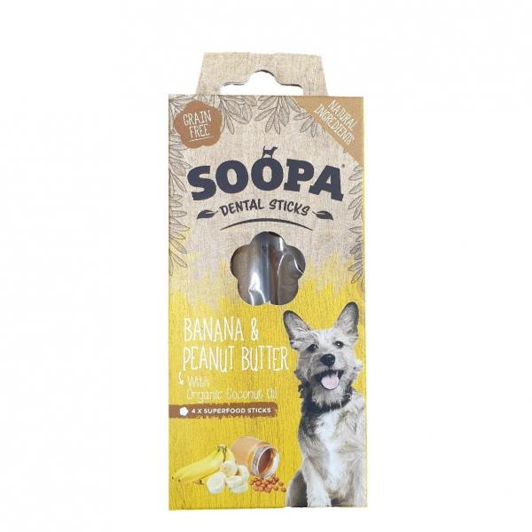 Soopa Dental Sticks with Banana and Peanut Butter 4pcs